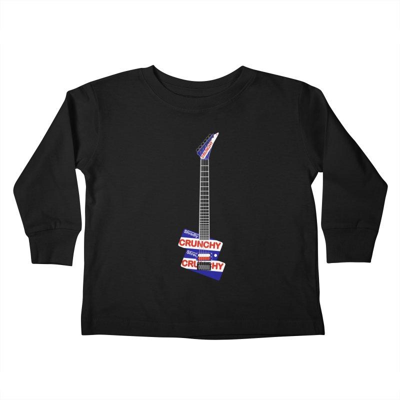 Crunchy Guitar Kids Toddler Longsleeve T-Shirt by Armando Padilla Artist Shop