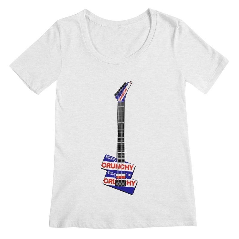 Crunchy Guitar Women's Regular Scoop Neck by Armando Padilla Artist Shop