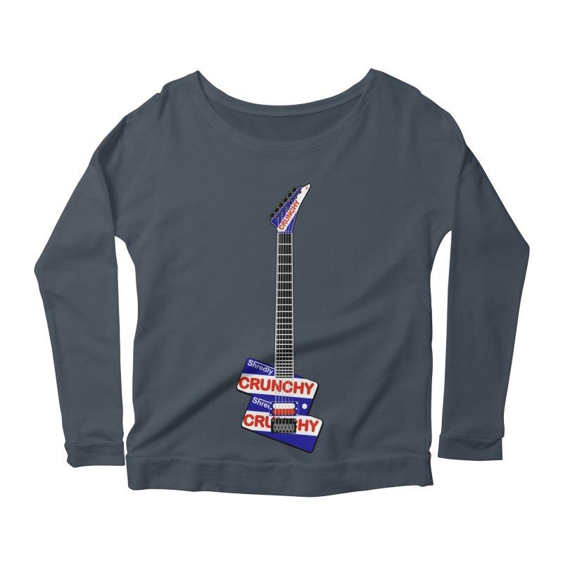 Crunchy Guitar Women's Scoop Neck Longsleeve T-Shirt by Armando Padilla Artist Shop