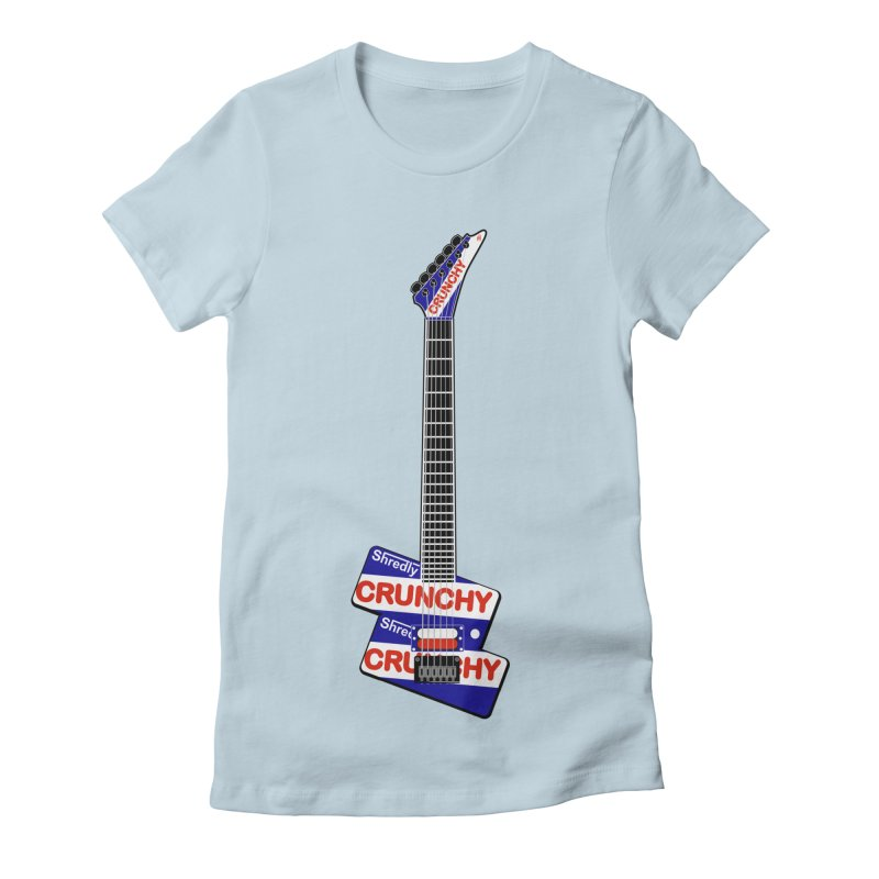 Crunchy Guitar Women's Fitted T-Shirt by Armando Padilla Artist Shop