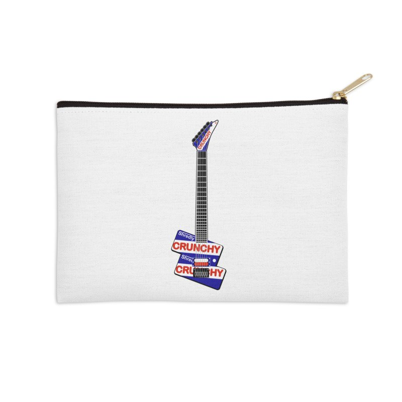 Crunchy Guitar Accessories Zip Pouch by Armando Padilla Artist Shop