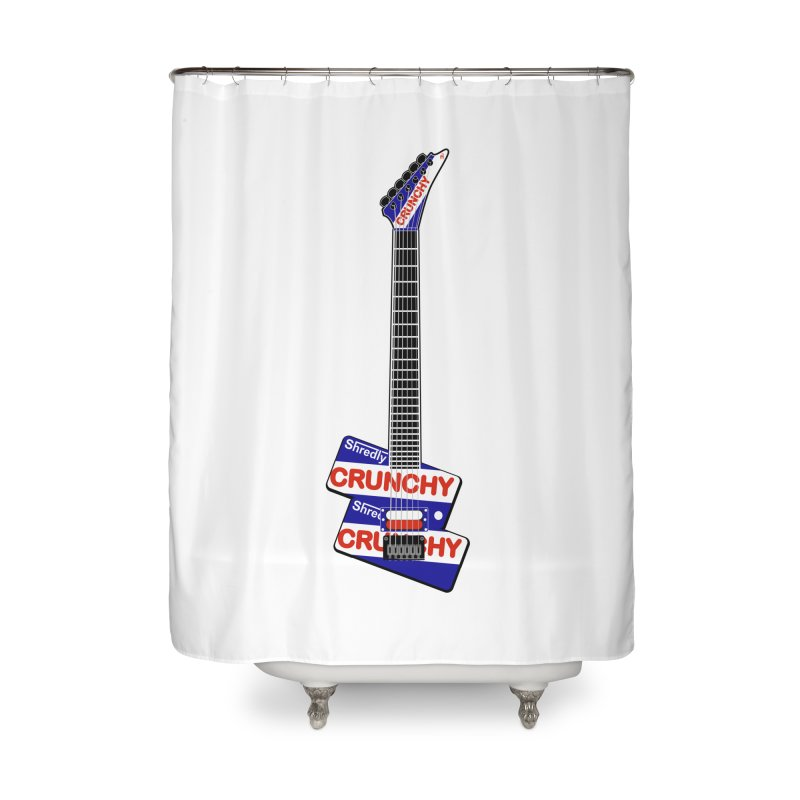 Crunchy Guitar Home Shower Curtain by Armando Padilla Artist Shop