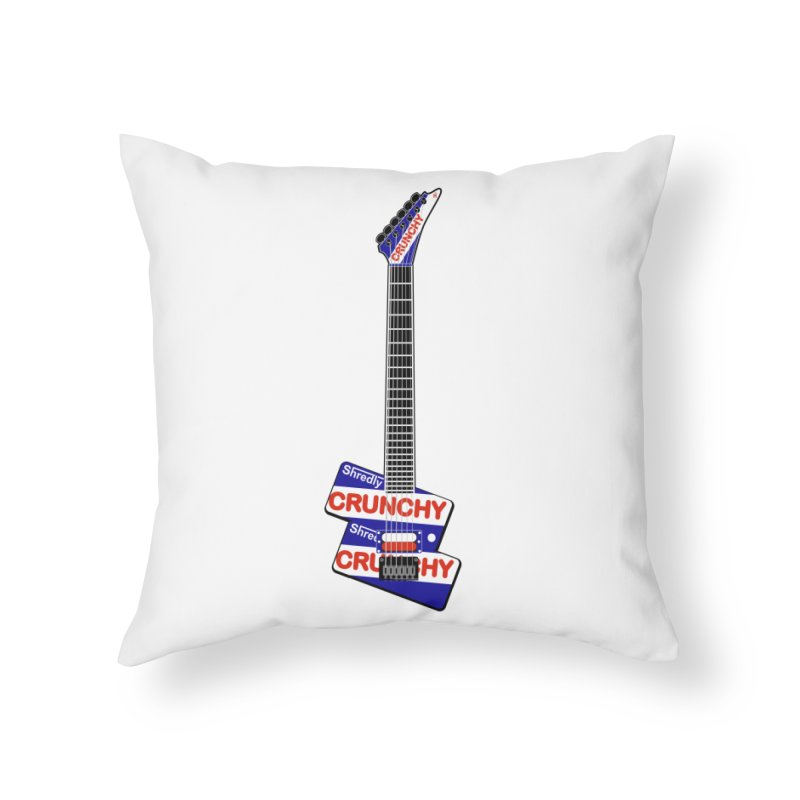Crunchy Guitar Home Throw Pillow by Armando Padilla Artist Shop