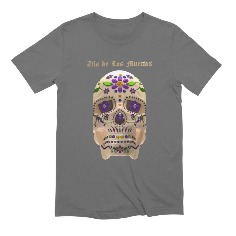 Dia De Los Muertos Sugar Skull One Men's T-Shirt by Armando Padilla Artist Shop
