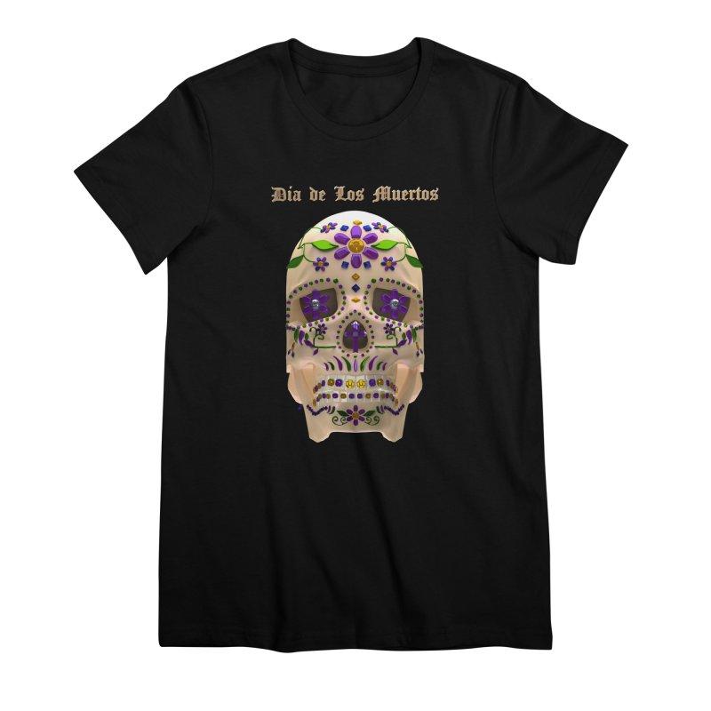 Dia De Los Muertos Sugar Skull One Women's Premium T-Shirt by Armando Padilla Artist Shop