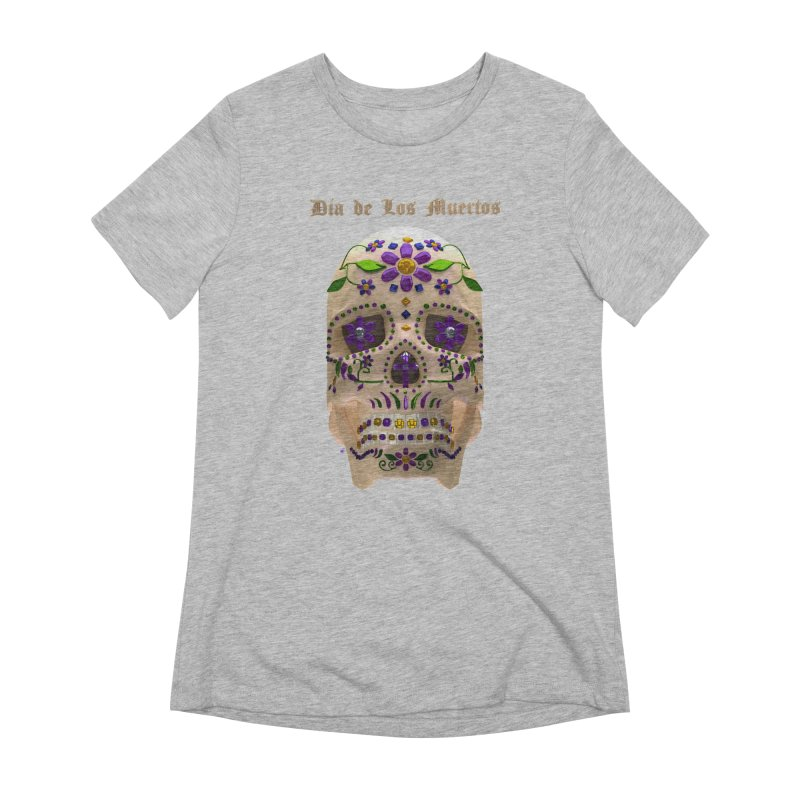 Dia De Los Muertos Sugar Skull One Women's Extra Soft T-Shirt by Armando Padilla Artist Shop