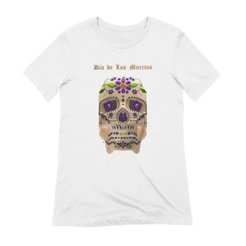 Dia De Los Muertos Sugar Skull One Women's Extra Soft T-Shirt by Armando Padilla Artist Shop