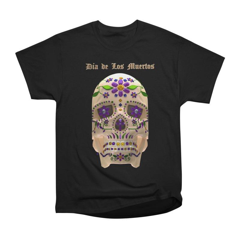 Dia De Los Muertos Sugar Skull One Men's T-Shirt by Armando Padilla Artist Shop