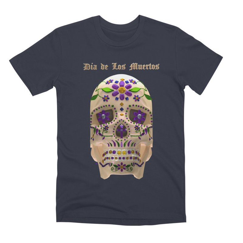 Dia De Los Muertos Sugar Skull One Men's Premium T-Shirt by Armando Padilla Artist Shop