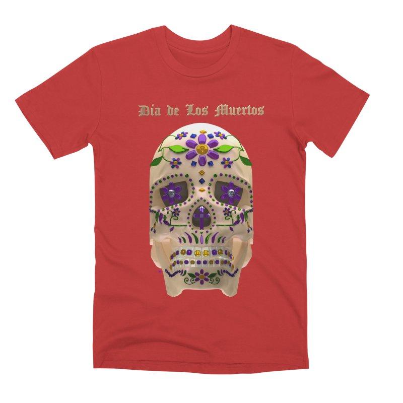 Dia De Los Muertos Sugar Skull One Men's Premium T-Shirt by Armando Padilla Artist Shop