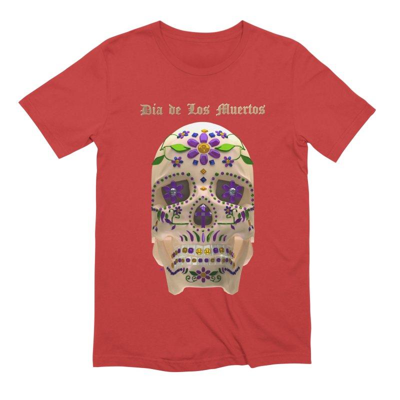 Dia De Los Muertos Sugar Skull One Men's Extra Soft T-Shirt by Armando Padilla Artist Shop