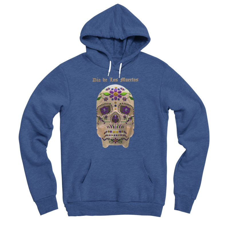 Dia De Los Muertos Sugar Skull One Men's Sponge Fleece Pullover Hoody by Armando Padilla Artist Shop