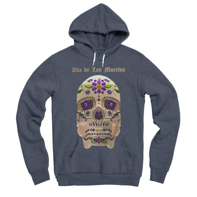 Dia De Los Muertos Sugar Skull One Men's Sponge Fleece Pullover Hoody by Armando Padilla Artist Shop