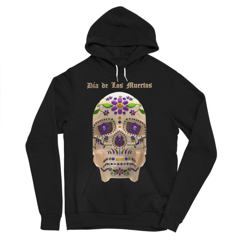 Dia De Los Muertos Sugar Skull One Women's Sponge Fleece Pullover Hoody by Armando Padilla Artist Shop