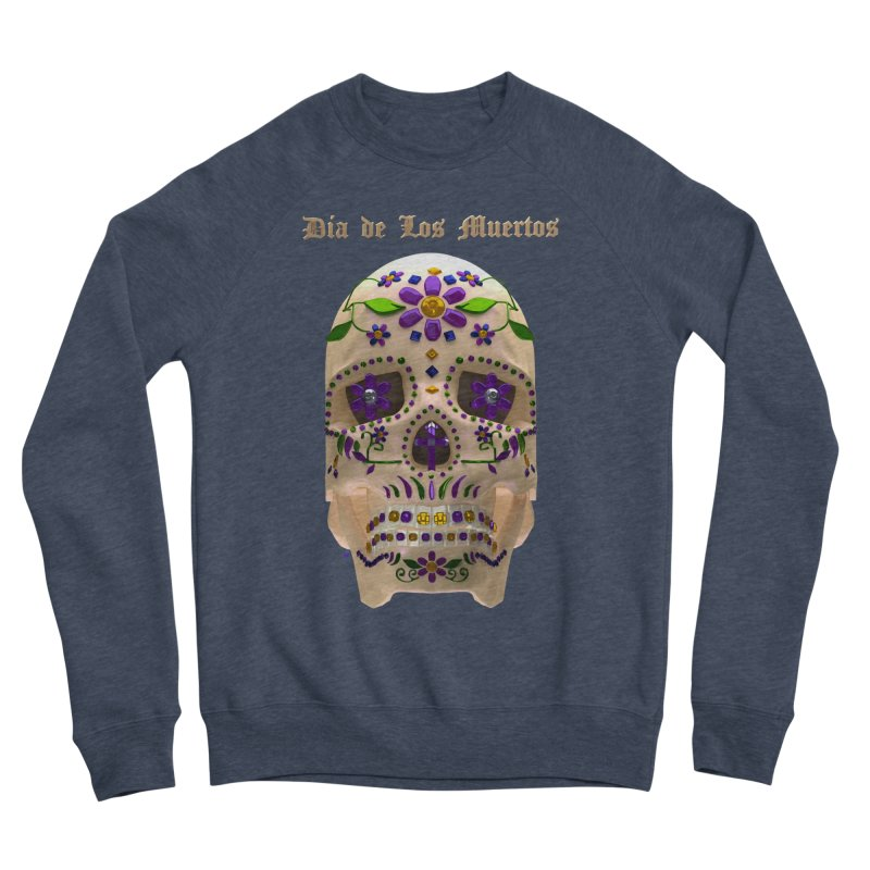 Dia De Los Muertos Sugar Skull One Men's Sponge Fleece Sweatshirt by Armando Padilla Artist Shop
