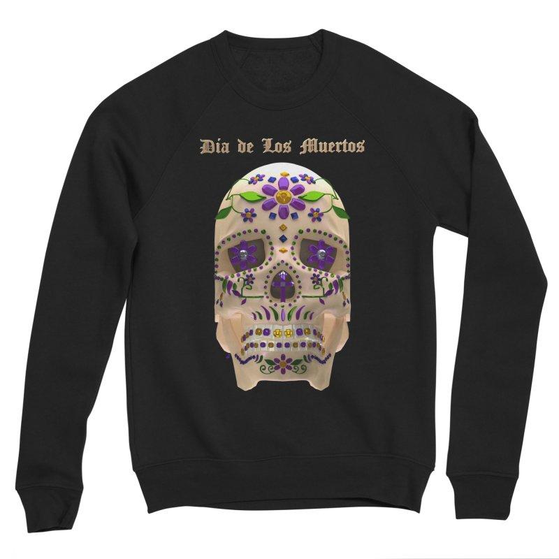 Dia De Los Muertos Sugar Skull One Women's Sponge Fleece Sweatshirt by Armando Padilla Artist Shop