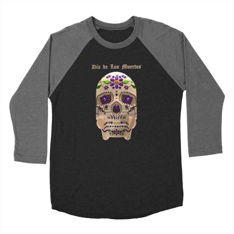 Dia De Los Muertos Sugar Skull One Women's Baseball Triblend Longsleeve T-Shirt by Armando Padilla Artist Shop