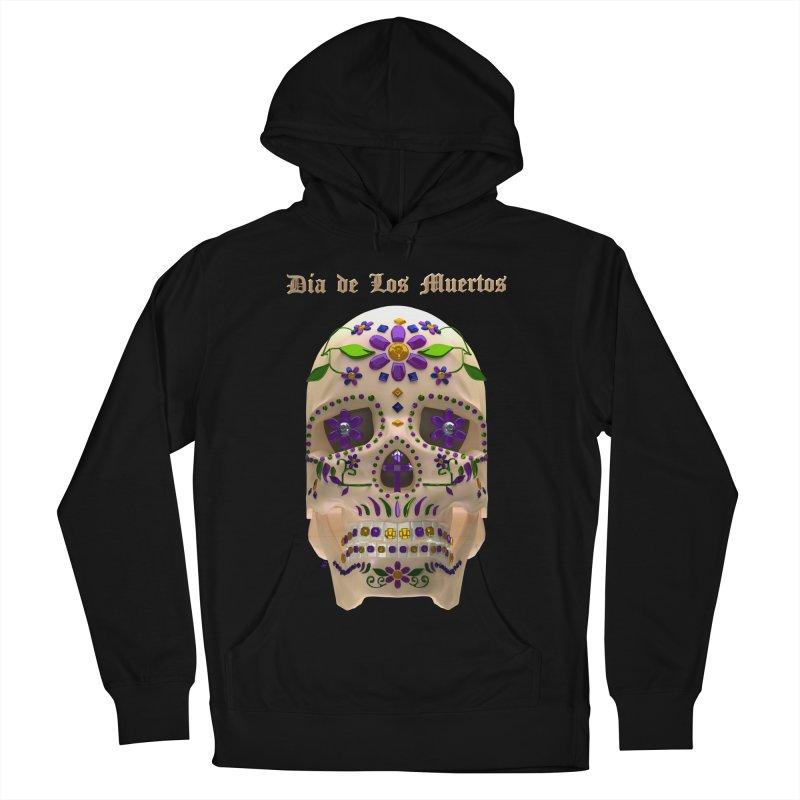 Dia De Los Muertos Sugar Skull One Women's French Terry Pullover Hoody by Armando Padilla Artist Shop