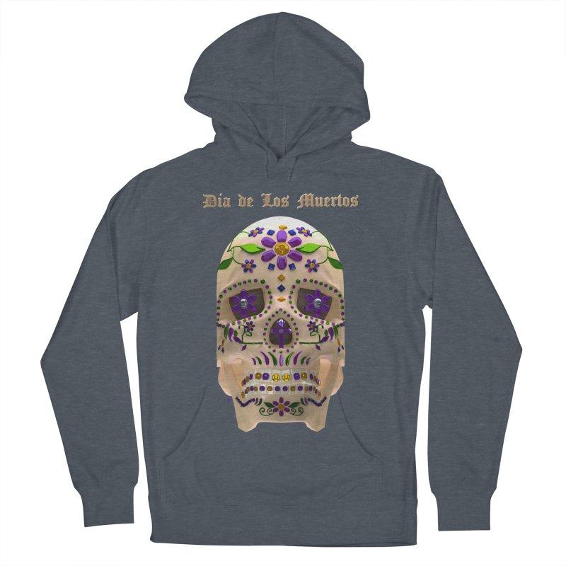 Dia De Los Muertos Sugar Skull One Men's French Terry Pullover Hoody by Armando Padilla Artist Shop