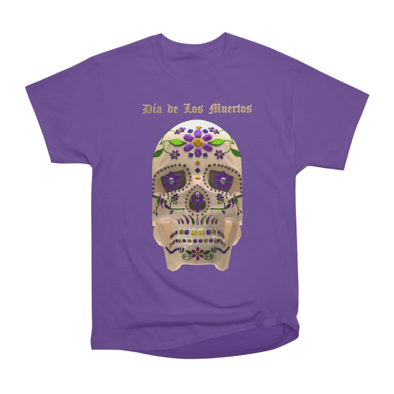 Dia De Los Muertos Sugar Skull One Women's Heavyweight Unisex T-Shirt by Armando Padilla Artist Shop