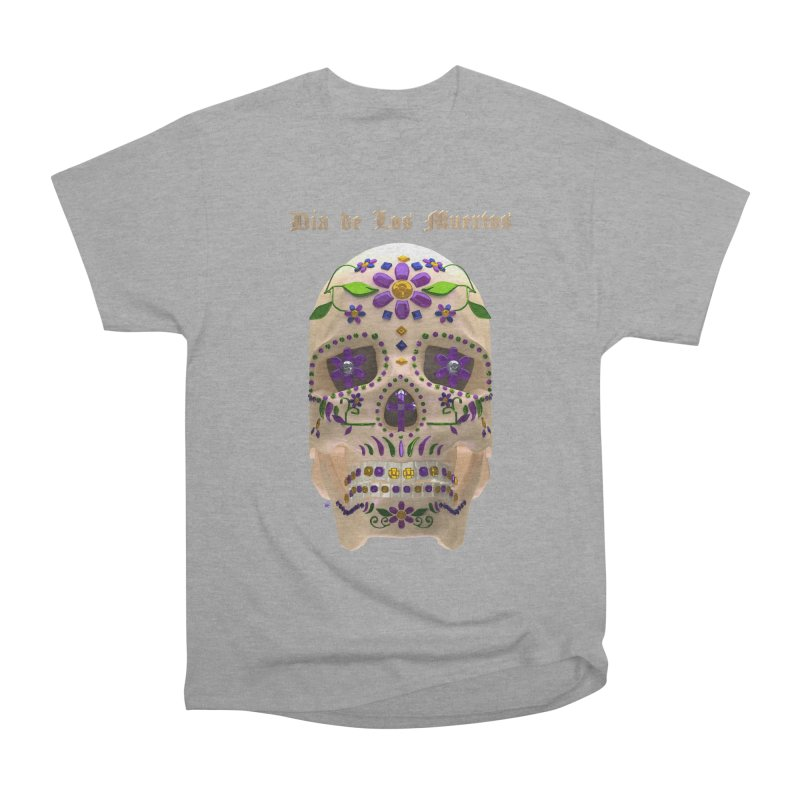 Dia De Los Muertos Sugar Skull One Men's Heavyweight T-Shirt by Armando Padilla Artist Shop
