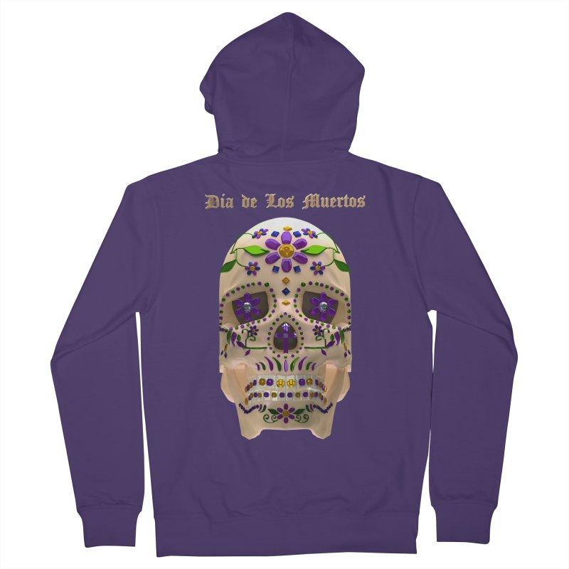 Dia De Los Muertos Sugar Skull One Women's Zip-Up Hoody by Armando Padilla Artist Shop