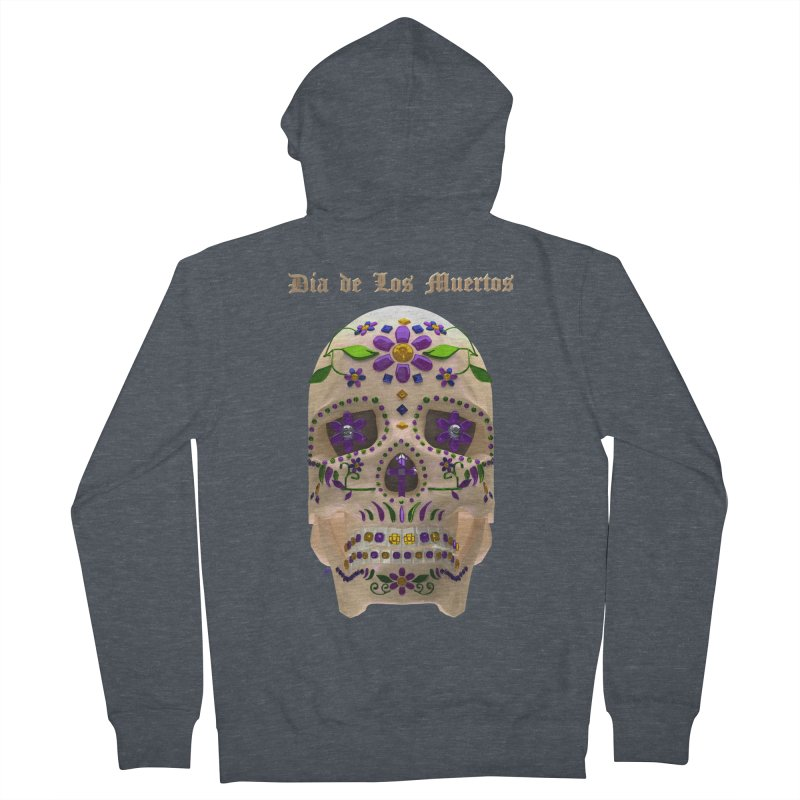 Dia De Los Muertos Sugar Skull One Men's French Terry Zip-Up Hoody by Armando Padilla Artist Shop