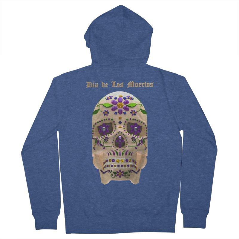 Dia De Los Muertos Sugar Skull One Men's Zip-Up Hoody by Armando Padilla Artist Shop