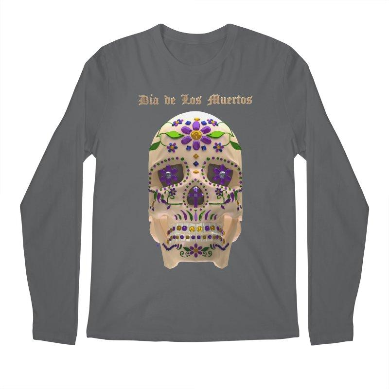 Dia De Los Muertos Sugar Skull One Men's Regular Longsleeve T-Shirt by Armando Padilla Artist Shop