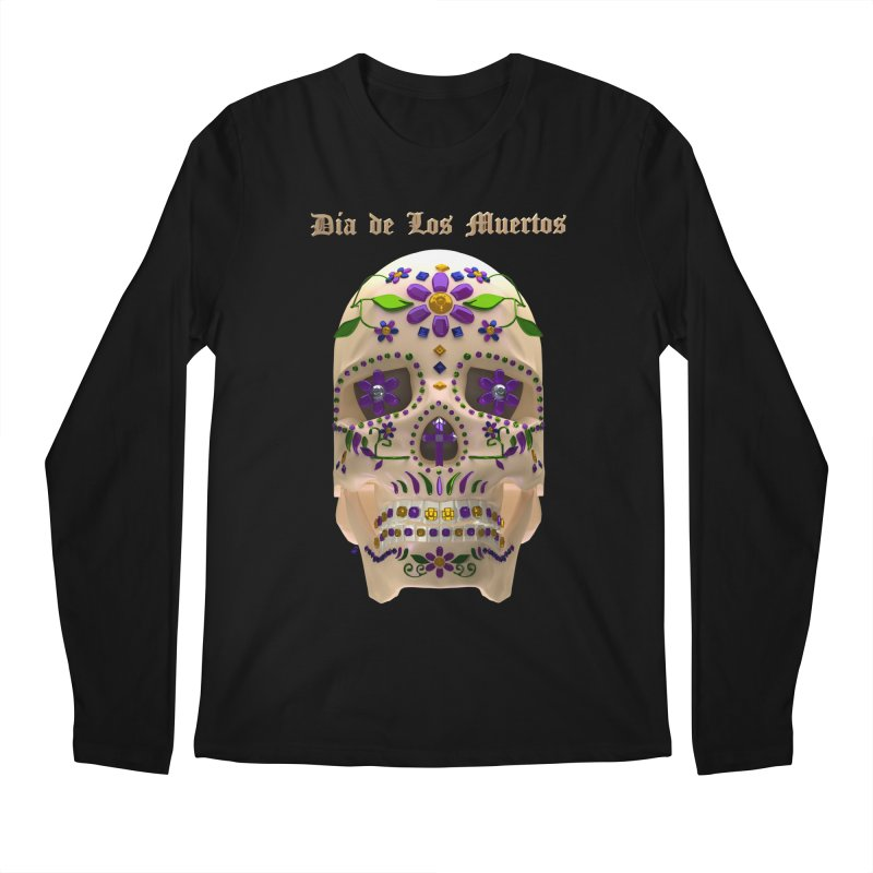Dia De Los Muertos Sugar Skull One Men's Regular Longsleeve T-Shirt by Armando Padilla Artist Shop