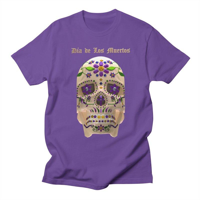 Dia De Los Muertos Sugar Skull One Men's Regular T-Shirt by Armando Padilla Artist Shop