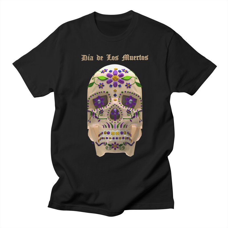 Dia De Los Muertos Sugar Skull One Men's Regular T-Shirt by Armando Padilla Artist Shop