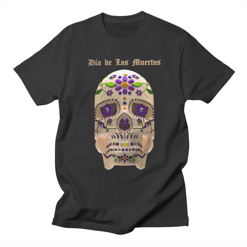 Dia De Los Muertos Sugar Skull One Women's Regular Unisex T-Shirt by Armando Padilla Artist Shop
