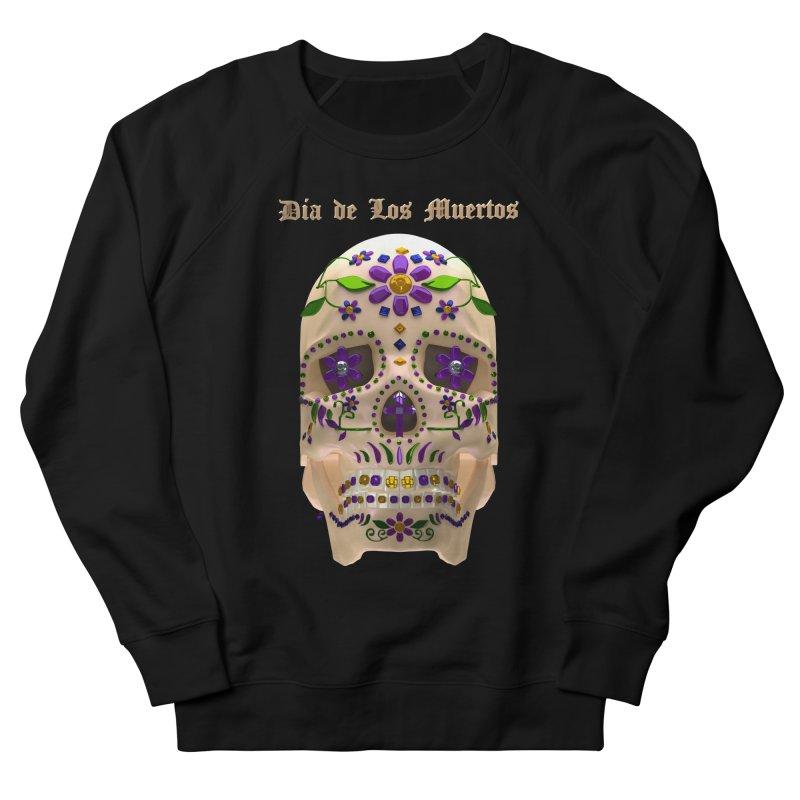 Dia De Los Muertos Sugar Skull One Women's French Terry Sweatshirt by Armando Padilla Artist Shop