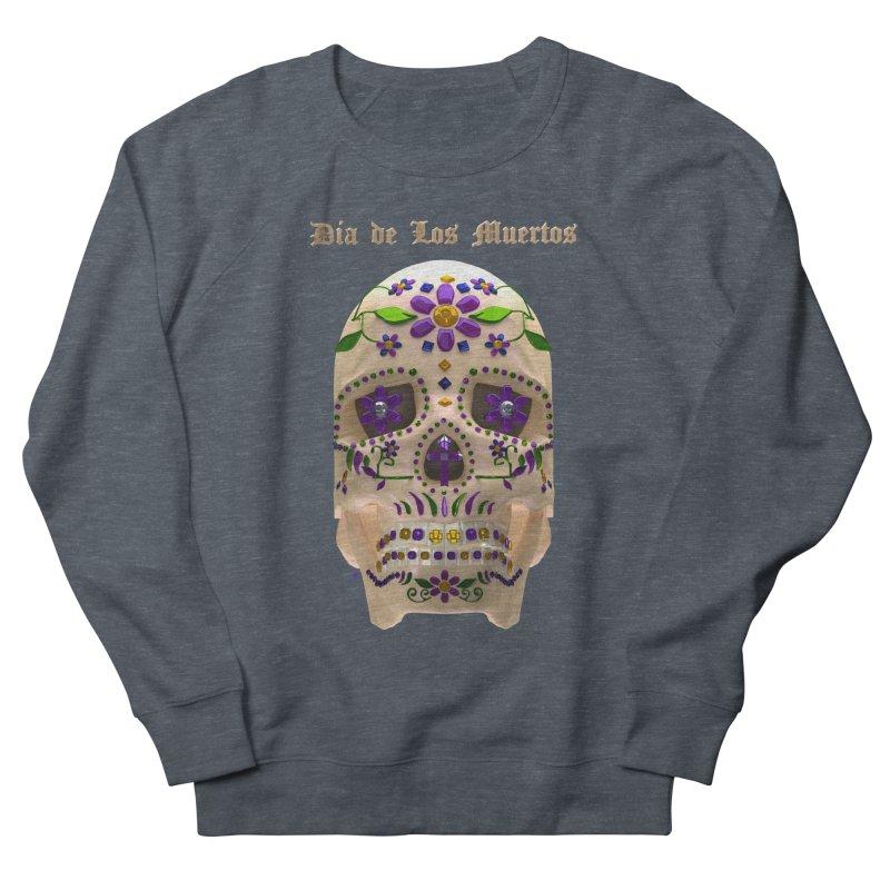 Dia De Los Muertos Sugar Skull One Men's French Terry Sweatshirt by Armando Padilla Artist Shop