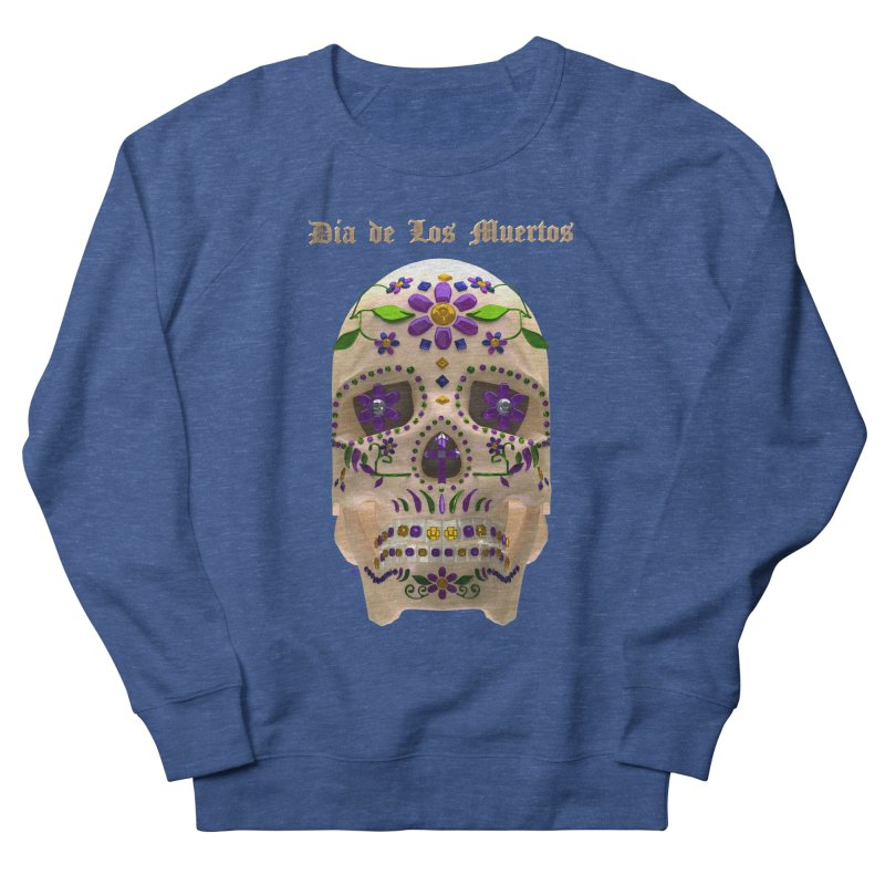 Dia De Los Muertos Sugar Skull One Men's French Terry Sweatshirt by Armando Padilla Artist Shop