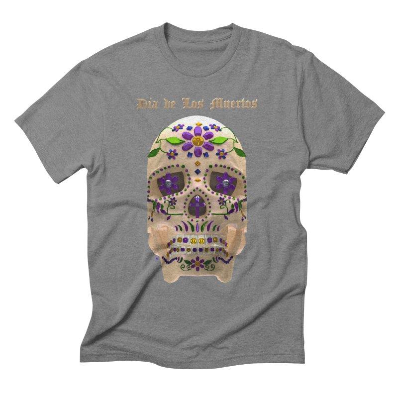 Dia De Los Muertos Sugar Skull One Men's Triblend T-Shirt by Armando Padilla Artist Shop