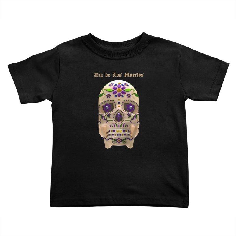 Dia De Los Muertos Sugar Skull One Kids Toddler T-Shirt by Armando Padilla Artist Shop