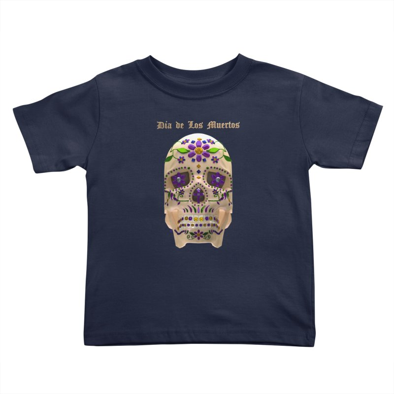 Dia De Los Muertos Sugar Skull One Kids Toddler T-Shirt by Armando Padilla Artist Shop