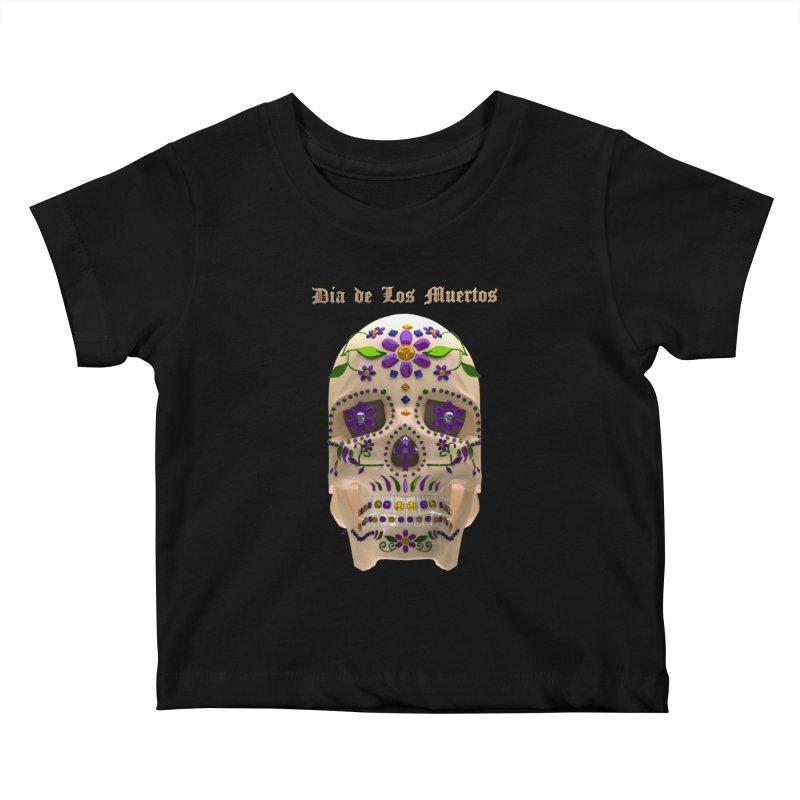 Dia De Los Muertos Sugar Skull One Kids Baby T-Shirt by Armando Padilla Artist Shop