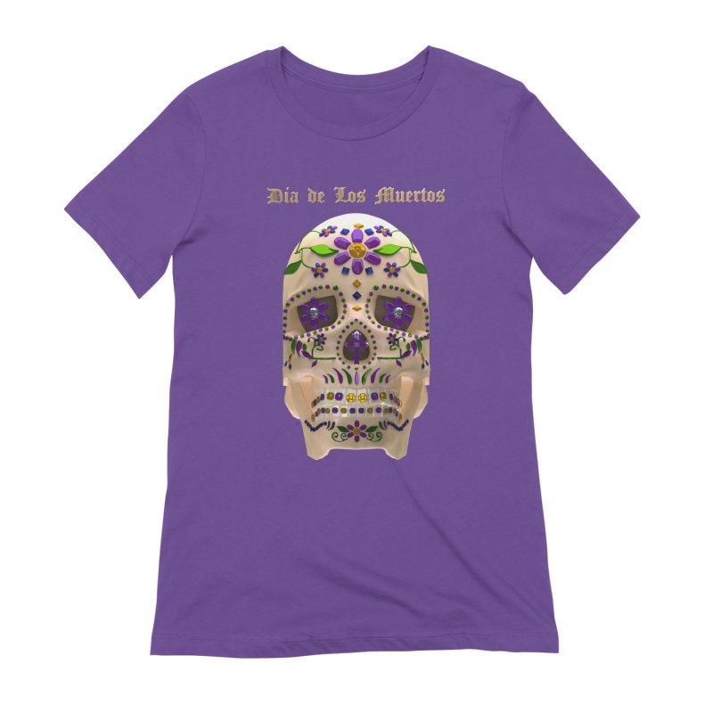Dia De Los Muertos Sugar Skull One Women's T-Shirt by Armando Padilla Artist Shop