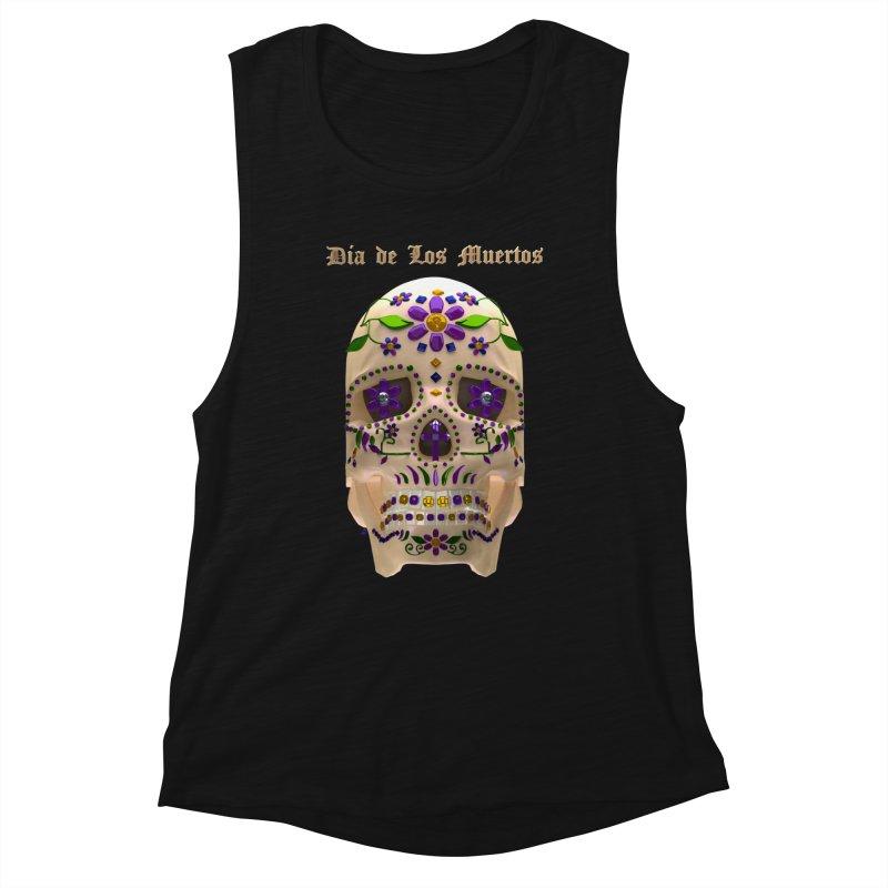 Dia De Los Muertos Sugar Skull One Women's Tank by Armando Padilla Artist Shop