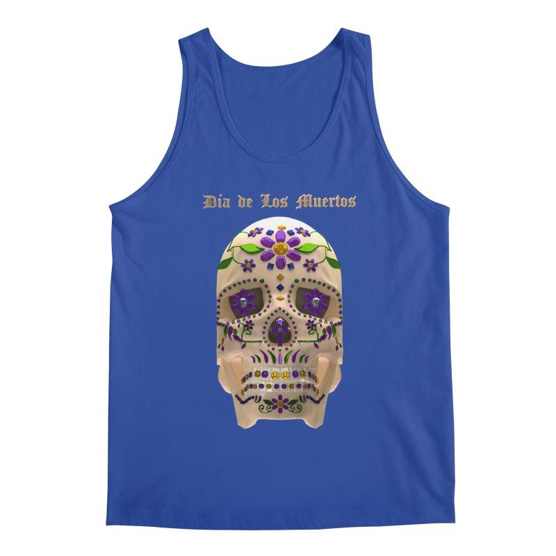 Dia De Los Muertos Sugar Skull One Men's Regular Tank by Armando Padilla Artist Shop