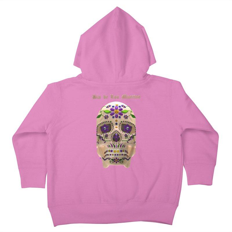 Dia De Los Muertos Sugar Skull One Kids Toddler Zip-Up Hoody by Armando Padilla Artist Shop