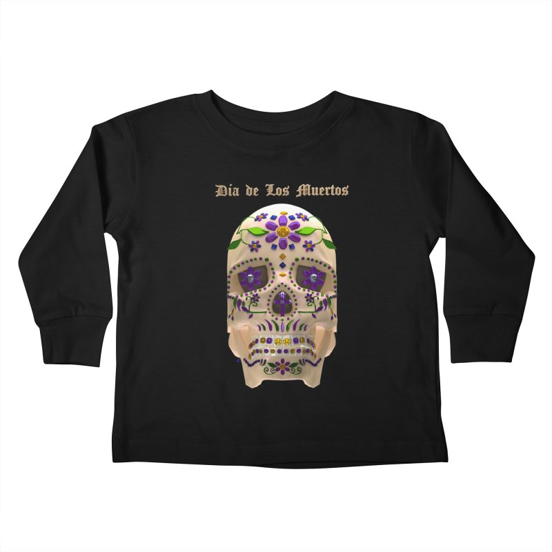 Dia De Los Muertos Sugar Skull One Kids Toddler Longsleeve T-Shirt by Armando Padilla Artist Shop