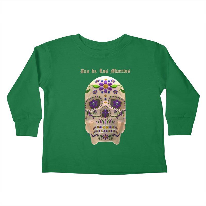 Dia De Los Muertos Sugar Skull One Kids Toddler Longsleeve T-Shirt by Armando Padilla Artist Shop