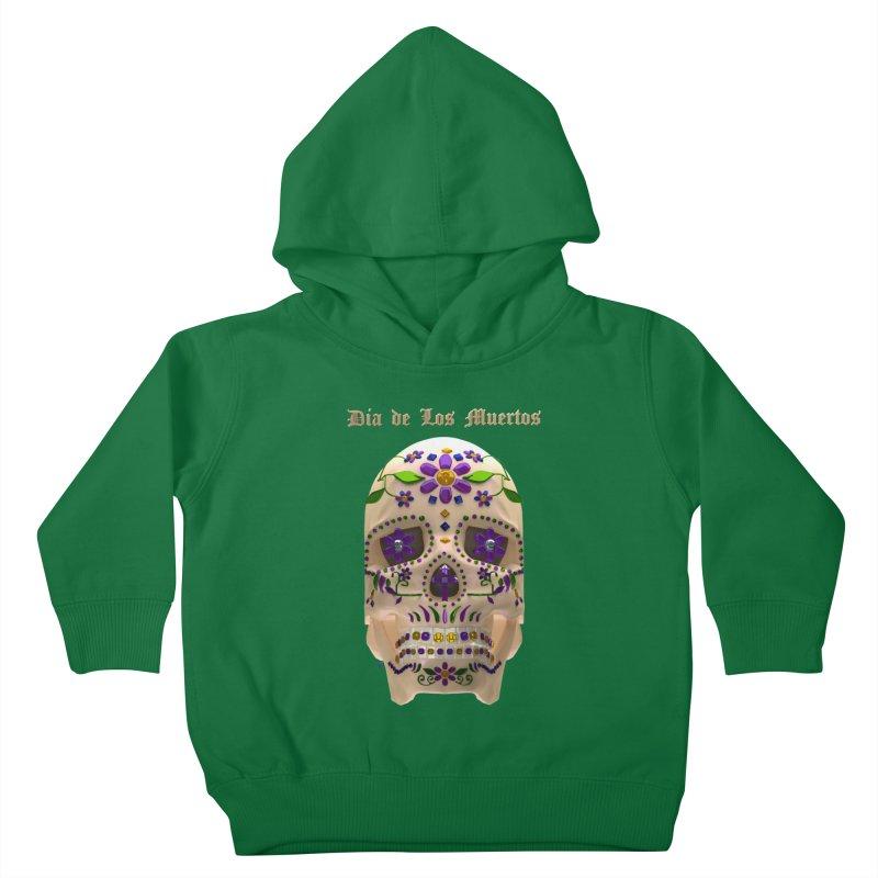 Dia De Los Muertos Sugar Skull One Kids Toddler Pullover Hoody by Armando Padilla Artist Shop