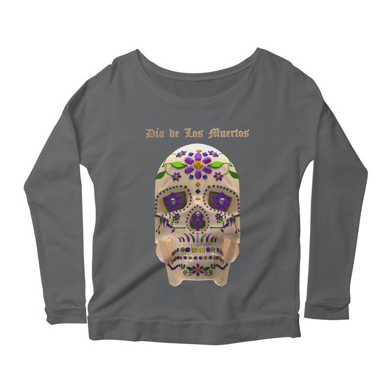 Dia De Los Muertos Sugar Skull One Women's Scoop Neck Longsleeve T-Shirt by Armando Padilla Artist Shop