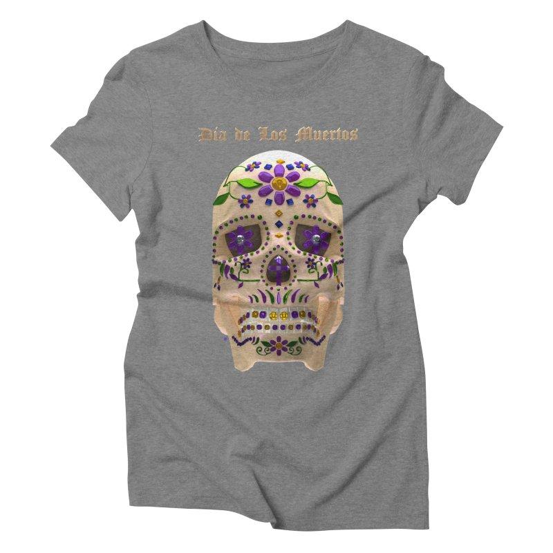 Dia De Los Muertos Sugar Skull One Women's Triblend T-Shirt by Armando Padilla Artist Shop
