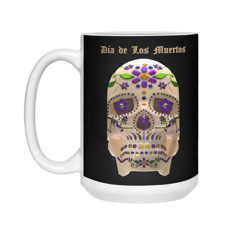 Dia De Los Muertos Sugar Skull One Accessories Standard Mug by Armando Padilla Artist Shop